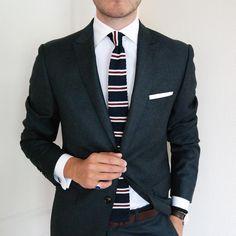 johannchristianbuddecke:    Friday Combination | Lovely Knit Tie from @lustbox | #menstyle #menswear #menwithclass #menstyle #mensfashion #mensfashionpost #mnswr #mnswrmagazine #menslook #mensfashionreview #ootd #class #elegance #dandy #gentleman #sartorial #sprezzatura #dapper #simplydapper #dapperlydone #bespoke #fashion #gentsfashion #instafashion #suit #dresshim #stylishmen #luxury #style #pocketsquare