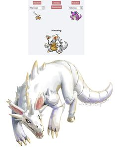 Pokemon Fusion - Maroking by YYHyasha.deviantart.com on @DeviantArt