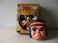 Vintage Halloween Indian costume Children's by LookBackVintage