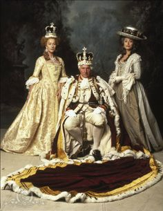 Queen Charlotte of England (Helen Mirren) and George III (Nigel Hawthorne) in The Madness of King George