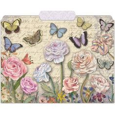 I'd like to replace the file folders in my office with these.  So cute!  Amazon.com: Punch Studio Butterfly Dance Decorative File Folders