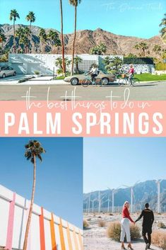 Looking for the best things to do in Palm Springs? Whether you are going on a girls trip, a vacation with kids, or a couples getaway, we've listed the top activities for your bucket lists. From restaurants, to hikes, bicycle riding and unique bars, this list has got your trip covered. | #palmsprings #LA #california California Travel Guide, Visit California, Stuff To Do, Things To Do, Road Trip, Palm Springs California, United States Travel, Walking In Nature, Travel Usa