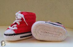 MADRES HIPERACTIVAS: Converse a Crochet para Bebé, Tutorial