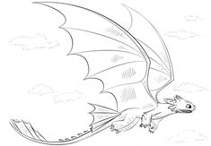 Toothless Dragon coloring page | Free Printable Coloring Pages
