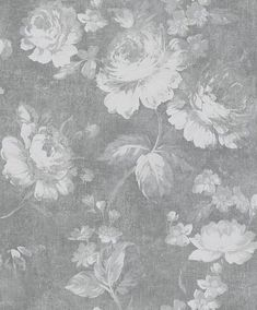 Dusky Floral by Albany - Grey - Wallpaper : Wallpaper Direct