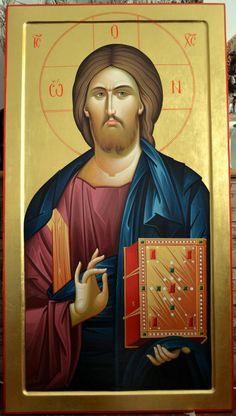 Religious Icons, Religious Art, History Of Romania, Christ Pantocrator, Jesus Painting, Orthodox Icons, Holy Spirit, Ikon, Jesus Christ