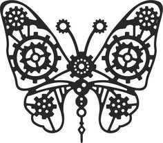 Cheery Lynn Gears Butterfly (Steampunk Series) Die. Cheery Lynn Designs die. Delicate beauty meets heavy metal. If you are not into Steampunk yet, this die will