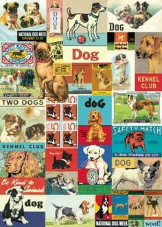"""Cavallini Vintage Dogs Wrap 20"""" x 28"""" Printed on Cavallini's signature Italian paper (archival) Perfect for wrapping, as posters, framing and other creative endeavors Best selling and most original de"""