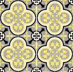 """Villa Lagoon Tile's """"Roseton"""" cement tile, available in over 60 colors. Floor Patterns, Tile Patterns, Hall Tiles, Encaustic Tile, Quatrefoil, Tile Design, Cement, Tulips, Flooring"""