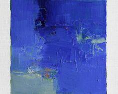 12 de enero de 2015 la estera de pintura - Original pintura al óleo abstracta - 9 x 9 (9 x 9 cm - aprox. 4 x 4 pulgadas) con 8 x 10 pulgadas