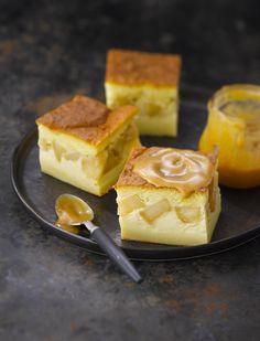 Gâteau magique aux pommes caramélisées