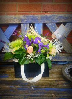 Handbag flowers by Kate Lister Flower Design