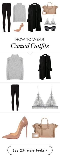 """""""Trench Coat Casual"""" by alvalva on Polyvore featuring A.L.C., Christian Louboutin, The Row, J Brand, Balenciaga, Karen Walker, women's clothing, women's fashion, women and female"""