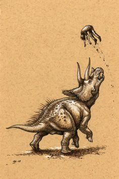 Triceratops isn't going anywhere by Niroot Puttapipat. Prompted by: http://www.smithsonianmag.com/science-nature/relax-triceratops-really-did-exist-77774576/