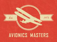 Neo Retro Aviation Logo (Red)  by Joshua Sortino