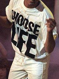 CHOOSE LIFE T-Shirt Wham Custom Hand Made George by printtee10