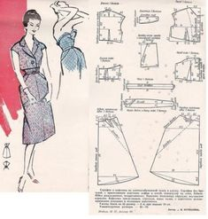 Sewing patterns retro doll clothes New Ideas Dress Making Patterns, Vintage Dress Patterns, Sewing Patterns Free, Clothing Patterns, Barbie Vintage, Patron Vintage, Collor, Tunic Pattern, Pattern Drafting