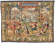 Designed by Pieter Coecke van Aelst | The Story of Joshua: Gibeonites Trick Joshua tapestry | Netherlandish, Brussels | The Met