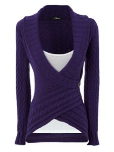 .purple. sweater ..LOVE THIS :)