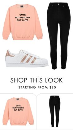"""Outfit #81"" by malayam ❤ liked on Polyvore featuring River Island and adidas Originals"