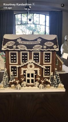 Kourtney Kardashian Shows Off Personalized Family Gingerbread House -- Without Scott Disick! Merry Christmas Baby, Christmas Gingerbread House, Family Christmas, Christmas Cookies, Christmas Time, Gingerbread Houses, Christmas Ideas, Mary Christmas, Italian Christmas