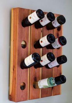 Make a DIY wine storage rack (also called a riddling rack) using fence pickets. Built In Wine Rack, Wine Rack Storage, Riddling Rack, Rustic Wine Racks, Pallet Wine, Diy Fence, Cool Diy, Diy Furniture, Diy Crafts