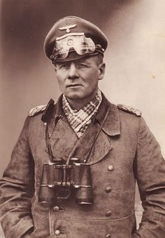 German General Eriwn Rommel, the desert fox If Hitler had let Rommel command the war they just might have won.