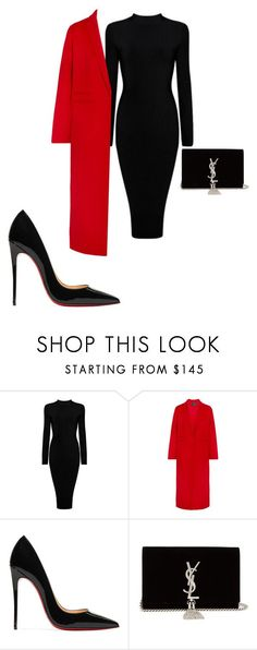 """"" by skandena ❤ liked on Polyvore featuring Maje, Christian Louboutin and Yves Saint Laurent"