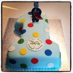 Boy's 1st birthday cake