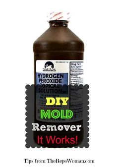 DIY Mold Remover that Works! Hydrogen peroxide and vinegar...leave for 10 min then scrub and rinse area...