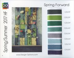 #SS2017 #2017ColourTrends #ColourTrends #2017trends | DESIGN OPTIONS SS 2017 - SPRING FORWARD