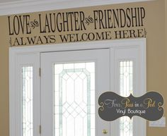 Love Laughter and Friendship by FourPeasinaPodVinyl on Etsy, $15.00