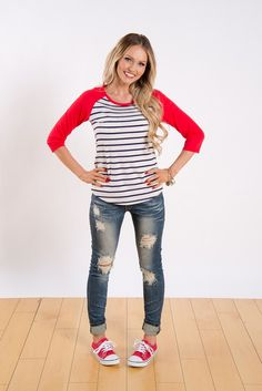 Talk about a home run! This top is cute, stylish and oh so comfy, can it get any better than that?!