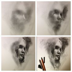 Charcoal Progression Sketch by Casey Baugh