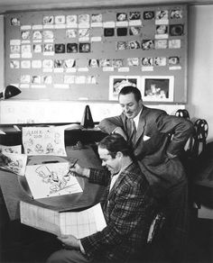 Walt while the production of Alice in Wonderland