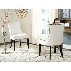 Safavieh En Vogue Dining Lester White Dining Chairs (Set of 2) (MCR4709M-SET2) (Cotton)