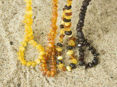Baby teething necklace Raw Baltic Amber baby necklace