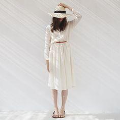 Cet été nos robes se porteront sous le genou ceinturées et dans de beaux cotons tout doux ! #despetitshauts by despetitshauts