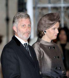 Reine Mathilde Marie Christine Ghislaine d'Udekem d'Acoz et le roi Philippe Léopold Louis Marie de Belgique