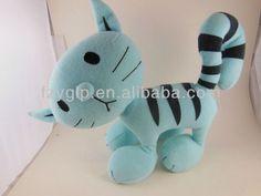 gato azul rayas negro de animales de peluche de la felpa para los regalos promocionales-Animales Peluche-Identificación del producto:1421561099-spanish.alibaba.com