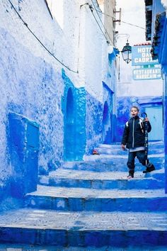 17 Of The Most Beautiful Travel Destinations Of 2014  9. The blue-hued mountain village of Chefchaouen, Morocco.