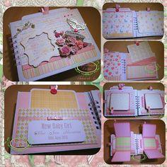 Baby Girl Keepsake Photo Journal Handmade. £26.99, via Etsy.