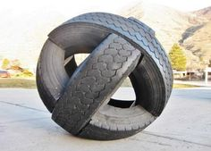 Fun yard decorations and artworks are wonderful ways to reuse and recycle old tires. Landfills and dumps are full, but people create more junk that pollutes the environment. Tire disposal costs money and produces toxic gasses. Recycling old tires for garden decorations is a better option for getting