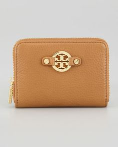 Amanda Zip-Around Coin Case, Royal Tan by Tory Burch at Neiman Marcus.