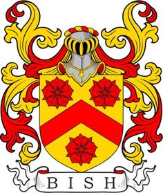 Bish Family Crest and Coat of Arms