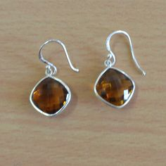 Classic Design Earring of Whiskey Quartz Silver by DevmuktiJewels