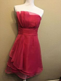 "CHIFFON TWO TONED  FABRIC SHEER  FUCHSIA 65/"" BRIDESMAID FORMAL// CURTAINS,DECOR"