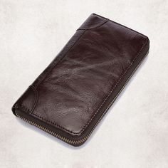 """Genuine Leather Long Clutch Vintage Wallet  Price: 36.00 & FREE Shipping """"Fashion is Self-Expression: It's not the brand that makes you, but its how you brand yourself in whatever you wear"""" by Cadilyn Trends. We share our business motto with you. Visit our store and check out our collections. #Fashion Motto, Brand You, Watches For Men, Wallets, Zip Around Wallet, Fashion Accessories, Collections, Classy, Trends"""