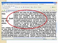 Video that shows you how to do genealogy research using old newspapers.