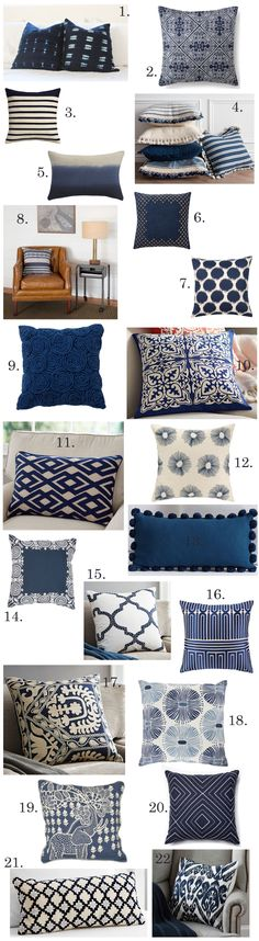 Building a Dream House: Navy Throw Pillows